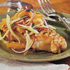 Grilled Fish with Orange-Fennel Salsa