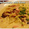 Carbonara with ham