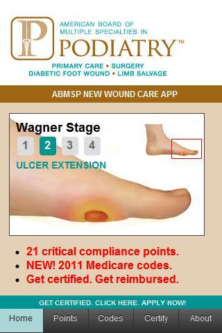 ABMSP Diabetic Wound Care App