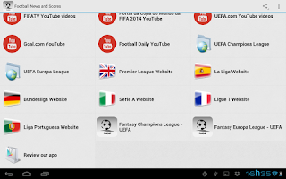 Screenshot of Football News and Scores
