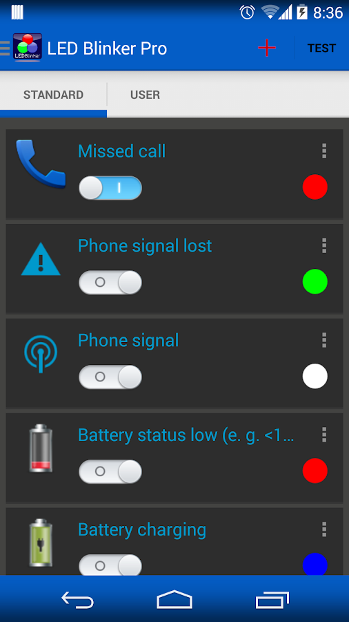 LED Blinker Notifications Lite -Manage your lights Screenshot