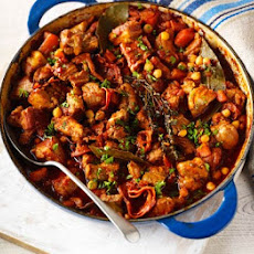 Chorizo, Pork Belly & Chickpea Casserole