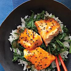 Asian Salmon Bowl with Lime Drizzle