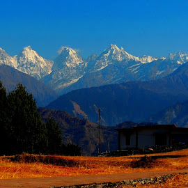Panch-chulli from Munsyari.... by Chandradeep Ghosh - Landscapes Mountains & Hills