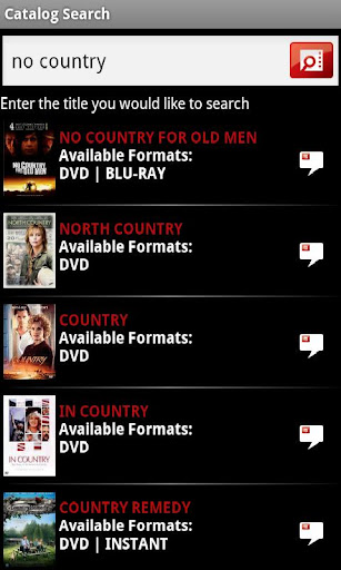 catalog-search-for-netflix for android screenshot
