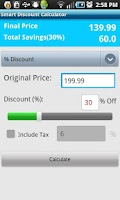 Screenshot of Smart Discount Calculator