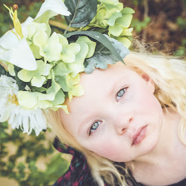 Flower child by Christi Wehner - Babies & Children Child Portraits