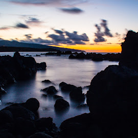 by Ricardo Xavier - Novices Only Landscapes ( water, longexpusure, sunset, sea, rocks )