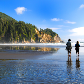Loving Life by Steve Rogers - People Couples ( oregon, smuggler's cove, ocean, beach )