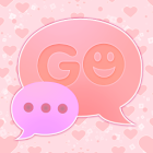 GO SMS Pro Pink Hearts Theme icon