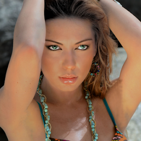 Look into my eyes... by D K - People Portraits of Women ( portraits; beach swimwear )