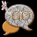 GO SMS THEME/CuteZebra4U icon