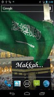 Screenshot of 3D Saudi Arabia Flag LWP +