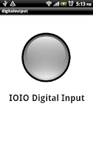 Screenshot of IOIO Digital input