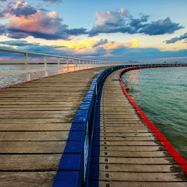 Red or blue by Darren Bosnjak - Buildings & Architecture Bridges & Suspended Structures ( beach, landscape )