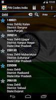 Screenshot of Pincodes India Offline