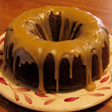 Chocolate Pumpkin Drizzle Cake