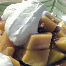 Mangoes Foster with Creme Fraiche