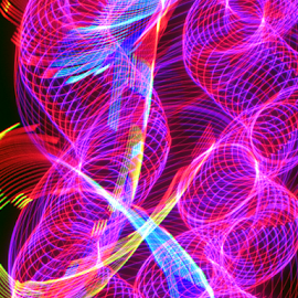 Twisted twisters by Jim Barton - Abstract Patterns ( twister, laser light, colorful, light design, twisted twisters, laser design, laser, laser light show, light, tornado, science )