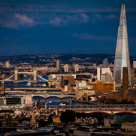 London by Marko Pletikosa - City,  Street & Park  Skylines ( tower, shard, thames, london, bank, bridge )