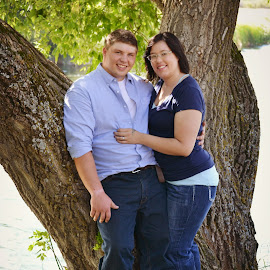 Young Love by Shelly Smedstad - People Couples ( love, minnesota, lake, couple, engagement )