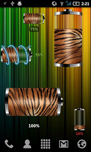 Tiger Skin: Battery Widget