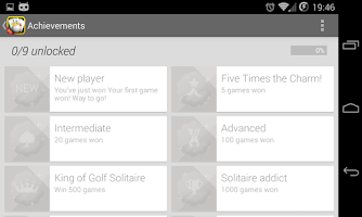 Screenshot of Royal Golf Solitaire