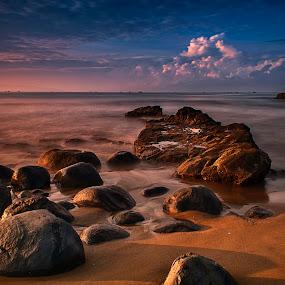 Rocks at KarangHawu by Aditya Permana - Landscapes Beaches ( , HDR, Landscapes )