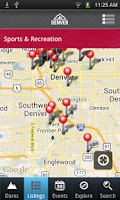 Screenshot of Official Visitor App to Denver