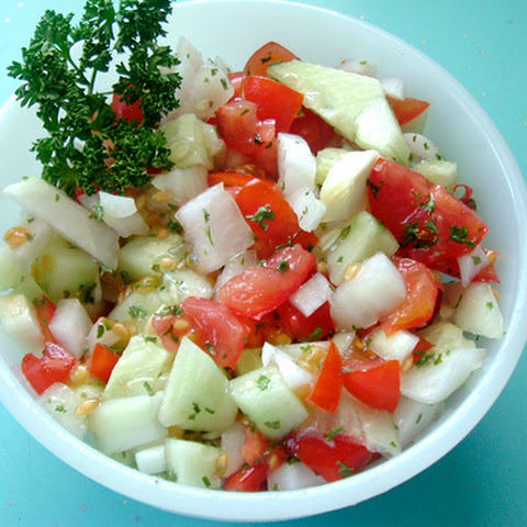 Persian Tomato and Cucumber Salad recipe – 68 calories