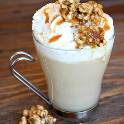 Caramel Corn Hot Chocolate