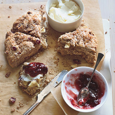 Whole Grain Cranberry-Apple Scones
