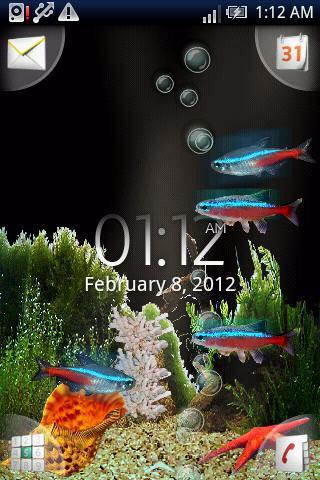 【免費娛樂App】冒泡霓虹燈印度魚高清-APP點子