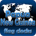 Papua New Guinea flag clocks