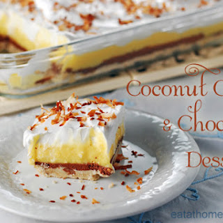 Coconut Cream and Chocolate Dessert