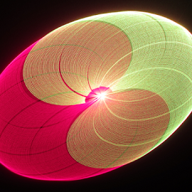 Easter egg. by Jim Barton - Abstract Patterns ( easter egg, laser light, colorful, light design, laser design, laser, laser light show, egg, light, science )