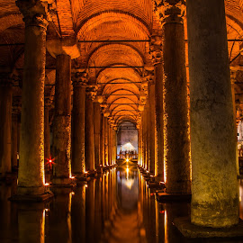 Basilica cistern by Darko epa Trajkovski - Buildings & Architecture Public & Historical ( water, basilica cistern, long exposure, turkey, istanbul )