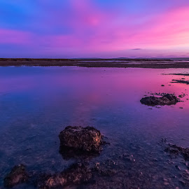 Purple & Pink by Stephen Bridger - Landscapes Waterscapes ( uk, europe, purple, travel, united kingdom, england, sky, colourful, sunset, low tide, lymington, pink, travel photography, britain )