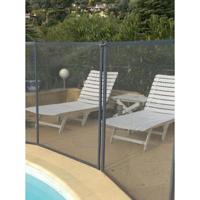 Acheter cl ture piscine souple d montable filet gris for Prix piscine demontable