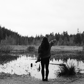 Explore BC by Vui Nguyen - Landscapes Forests ( #blackandwhite #stanleypark #explorebc #vancouver #bnw, black and white, b&w, landscape )