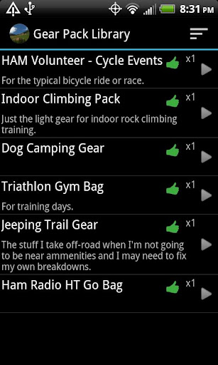 My Gear Pack