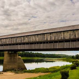 World's longest covered bridge Hartland New Brunswick Canada  by Andrew Pitre - Buildings & Architecture Bridges & Suspended Structures