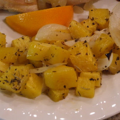 Roasted Butternut Squash with Herbes de Provence