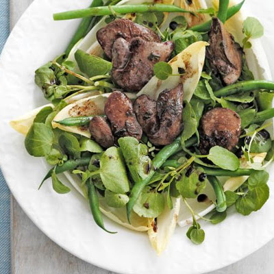 Warm Chicken Liver Salad