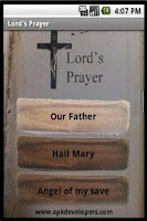 Screenshot of Christian prayers