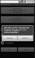 Screenshot of Taxi Dresden