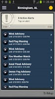 Screenshot of FLASH Weather Alerts
