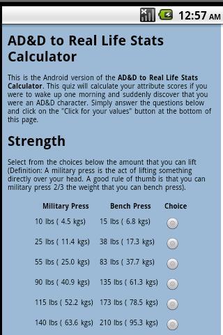 AD D Stats Quiz
