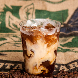 Iced Latte by George Holt - Food & Drink Alcohol & Drinks ( coffee  beans, esspresso, swirl, drink, coffee, iced latte, latte, iced )