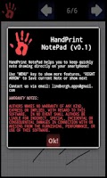 Screenshot of HandPrint Notepad